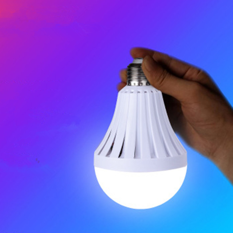 7W/9W/12W LED Automatic Charging Emergency Bulb Lamp for Outdoor Lighting E27 Engineering emergency light with packaging 85-265V