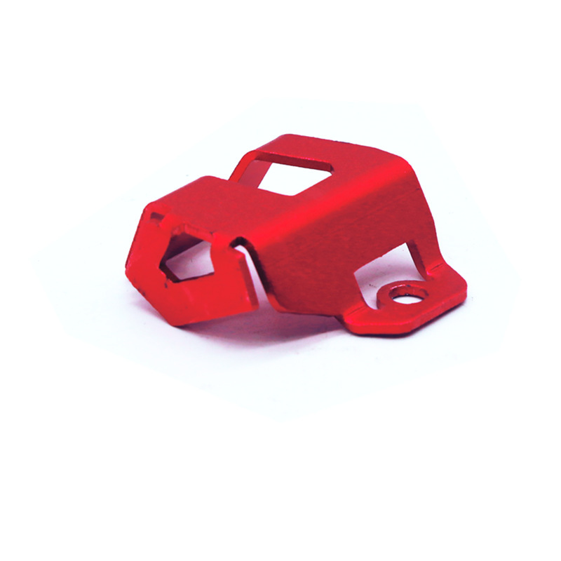 Motorcycle Modified Oil Can Protective Cover Rear Brake Pump Fluid Reservoir Guard Protector Cover for KAWASAKI NINJA400/300/650 Z900 red