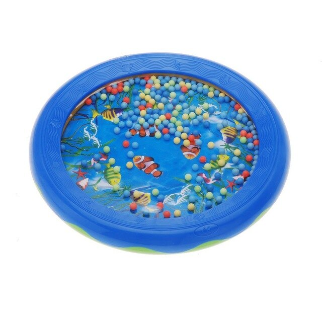 HOT SALE Ocean Wave Bead Drum Gentle Sea Sound Musical Educational Toy Tool for Baby Kid Child