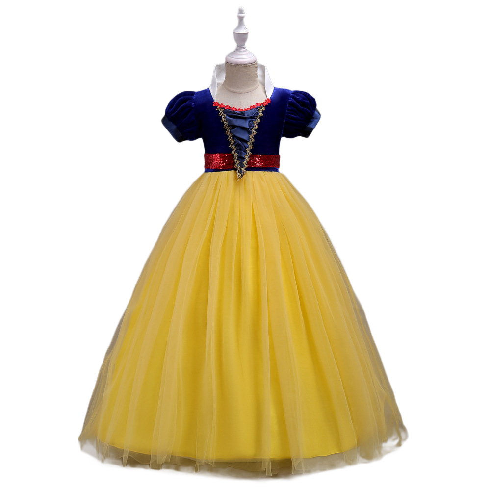 Baby Girl Stylish Tutu Princess Dress Lovely Bowknot Decoration Dress for Halloween  yellow_150cm