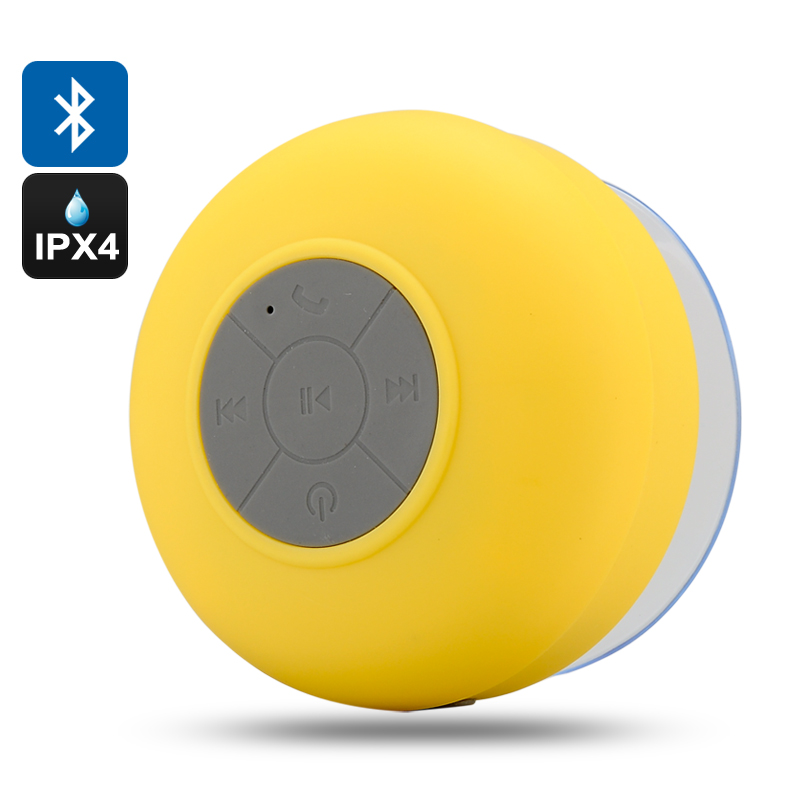 Bluetooth Shower Speaker 'AquaSound' (Yellow)
