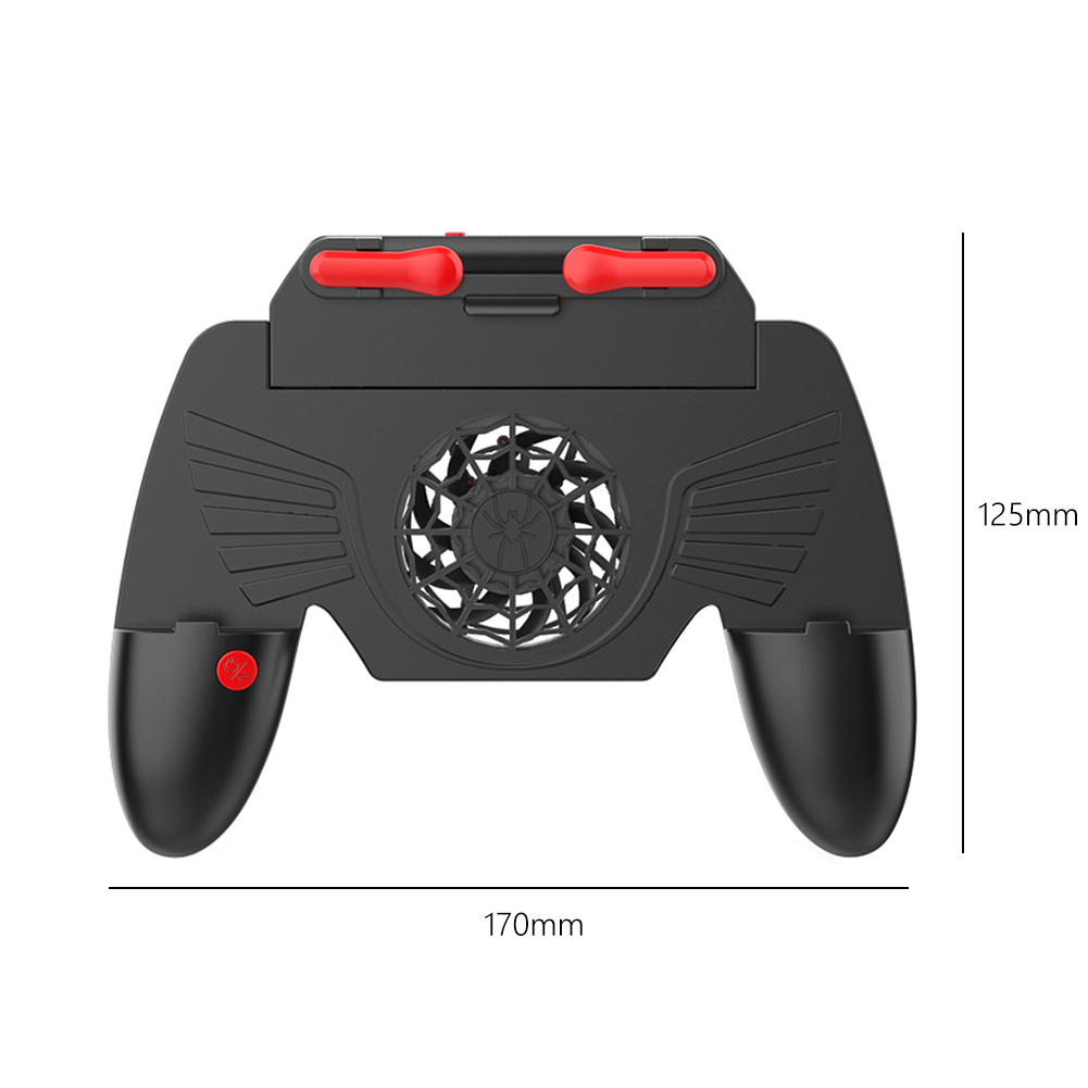 Game Controller Lightweight Game Playing Elements Trigger Fire Button Portable Gamepad with Cooling Fan As shown