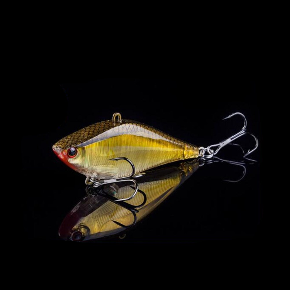 Vivid Color VIB Luminous Lures Fish Bait for Seawater Fresh Water Reticulated gold_as shown