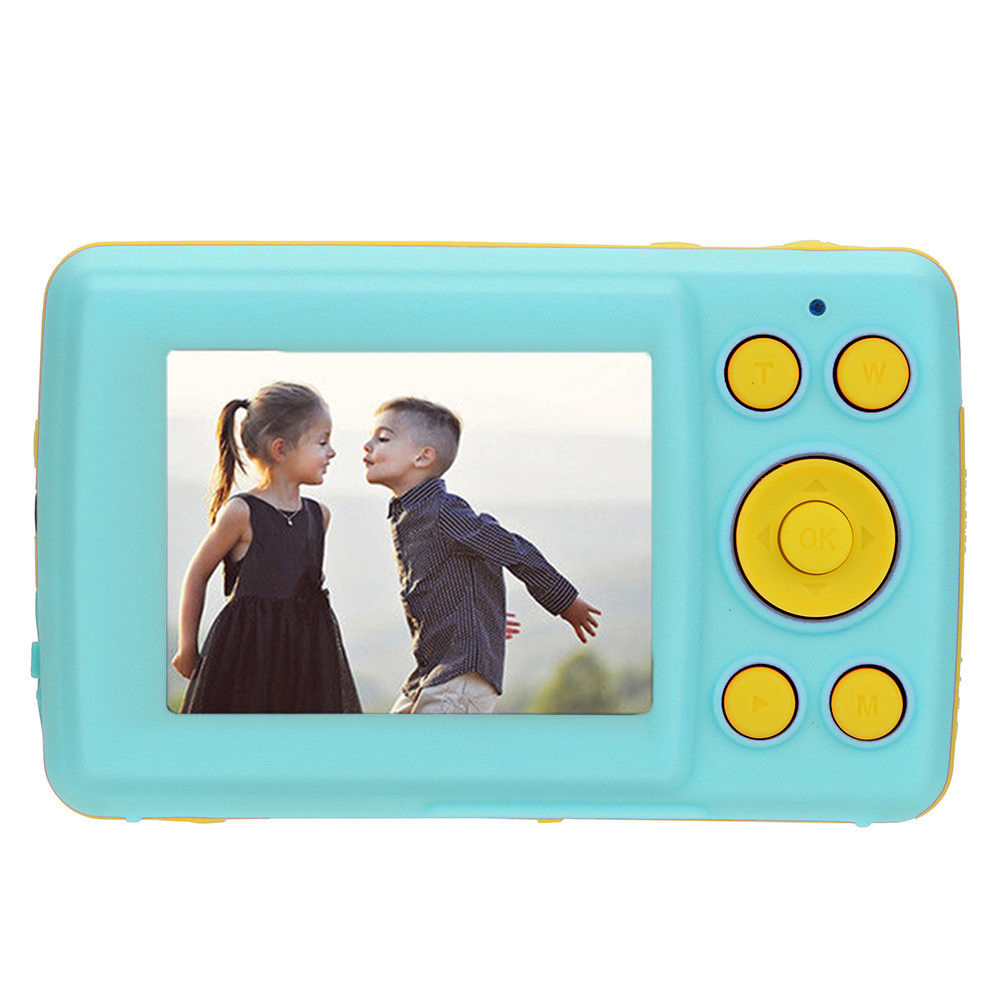 2.4 Inch HD Screen Kid Digital Camera 16MP Anti-Shake Face Detection Camcorder  blue