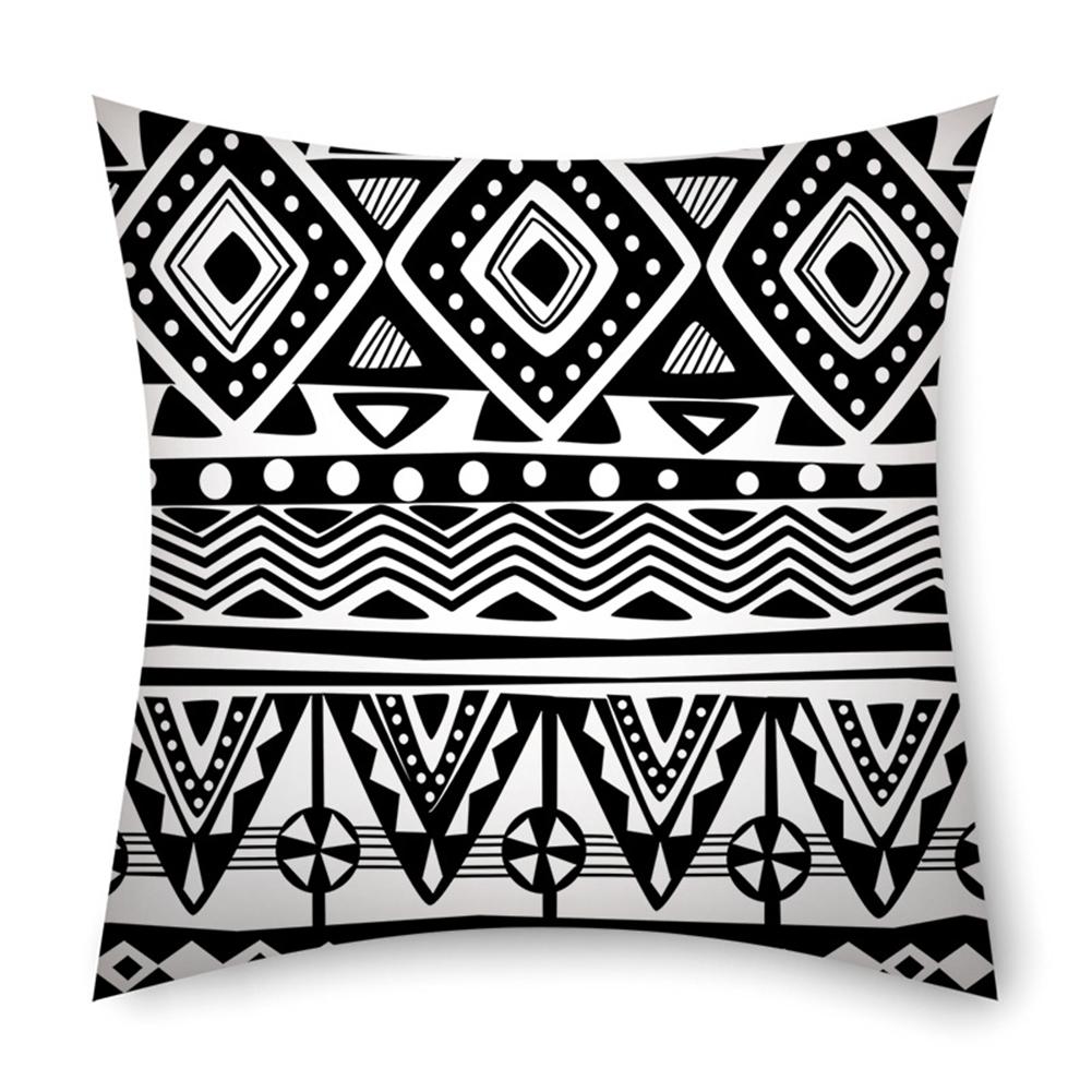 Linen Bohemian Style Striped Pillowcase 45*45cm Pillow Case Sofa Cushion Cover 4