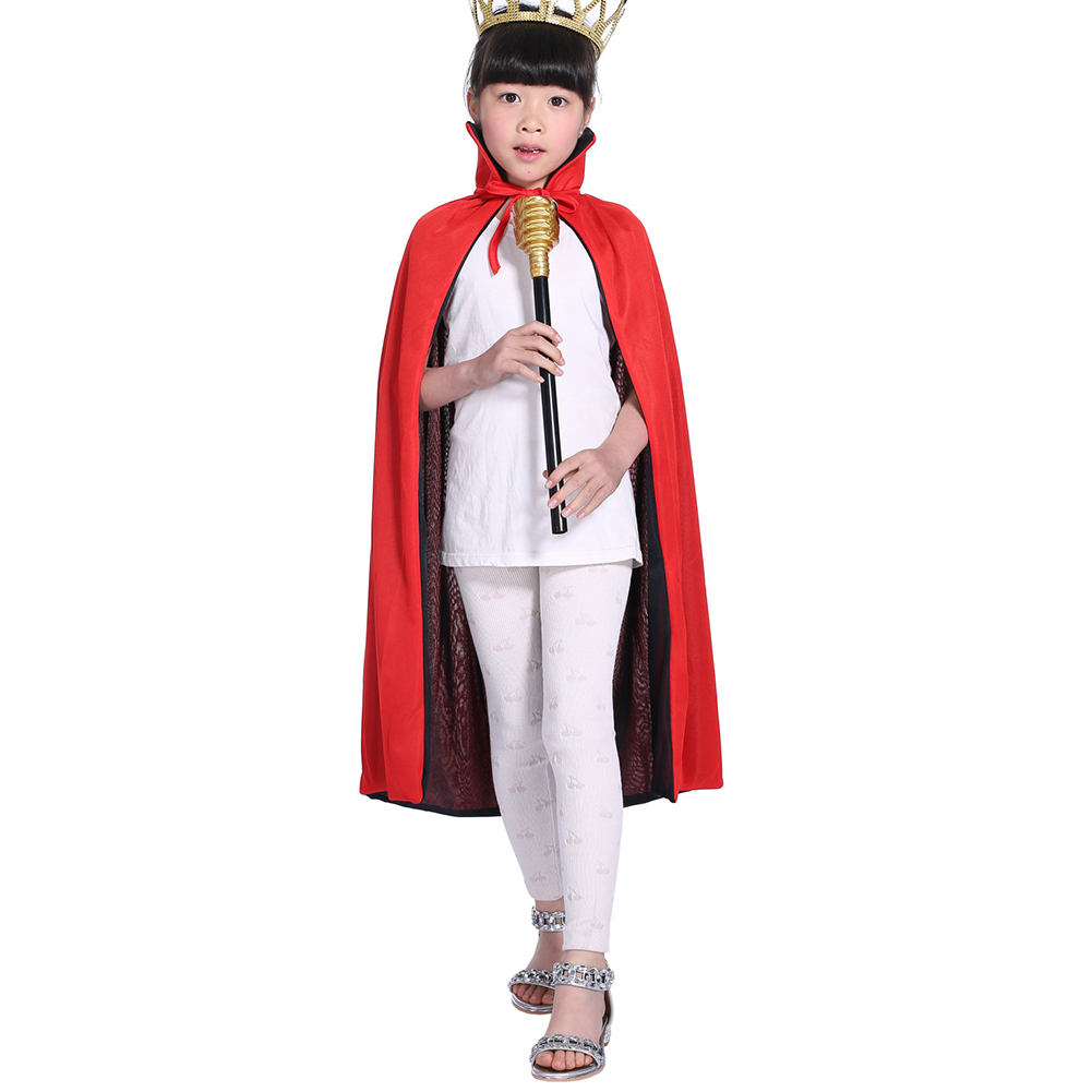 Children Halloween Cloak Black Cloak Costume Black and Red Double-sided Cloak stand collar  120cm