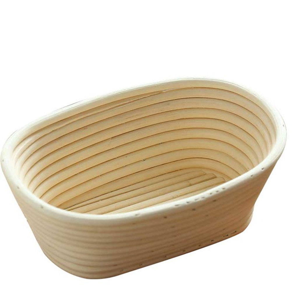 3 Sizes Oval Dough Banneton Brotform Dougn Rattan Bread Proofing Proving Baskets Tools 1PC 21X14X8CM