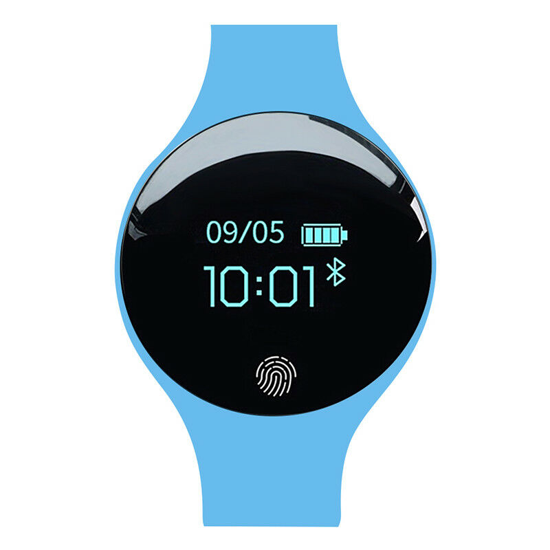 Bluetooth Smart Watch Wrist Waterproof Phone Mate for Android Samsung IOS iPhone blue