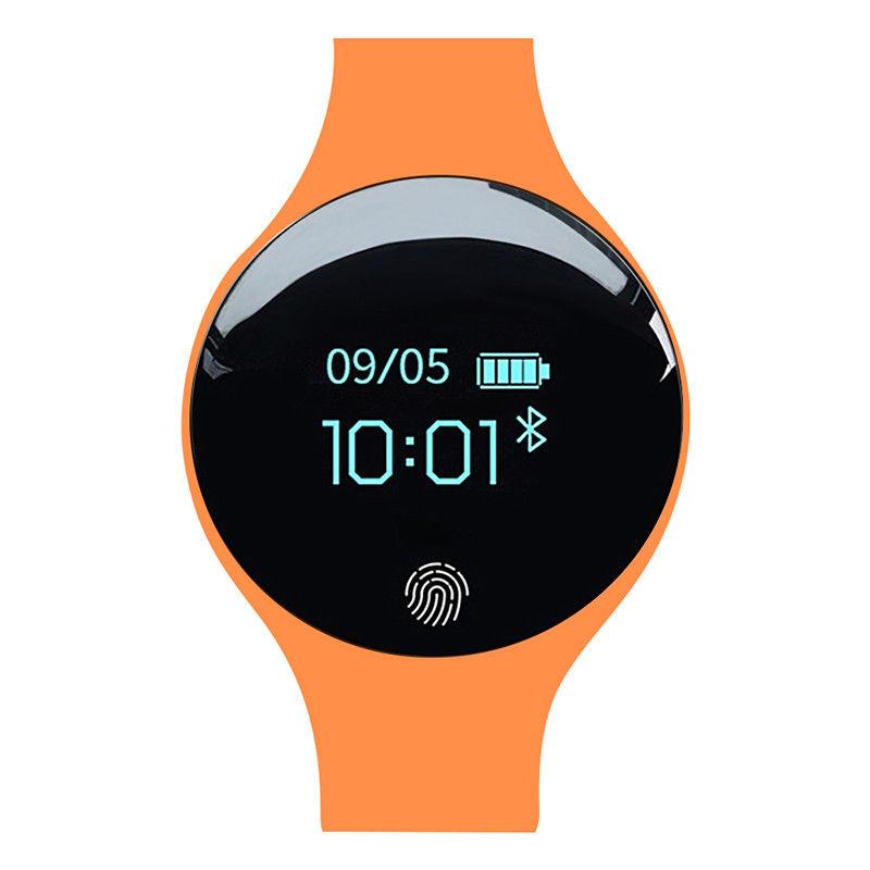 Bluetooth Smart Watch Wrist Waterproof Phone Mate for Android Samsung IOS iPhone Orange