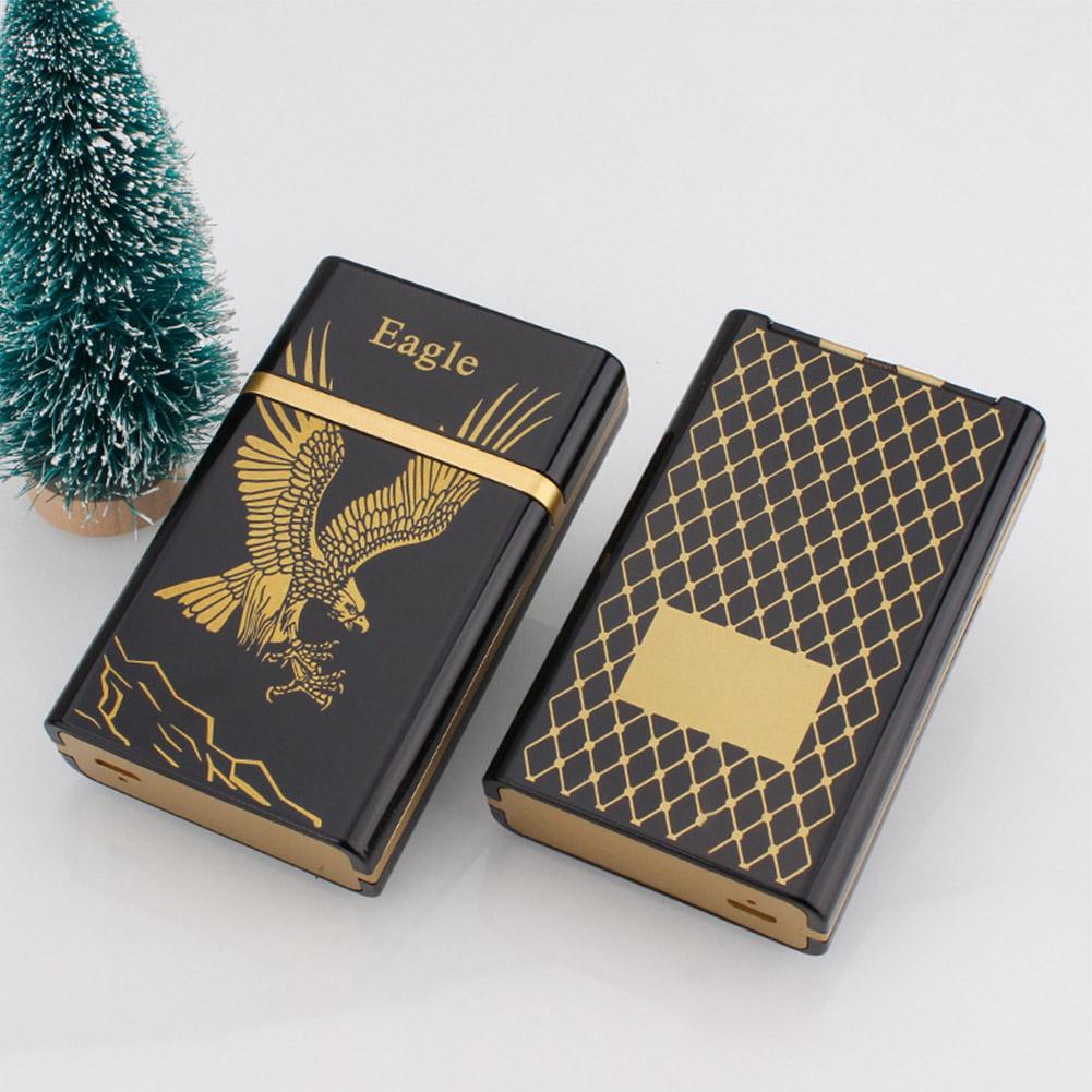 Fashion USB Charging Pressure Resistant Cigarette Case for Storage Golden Eagle_colorful package