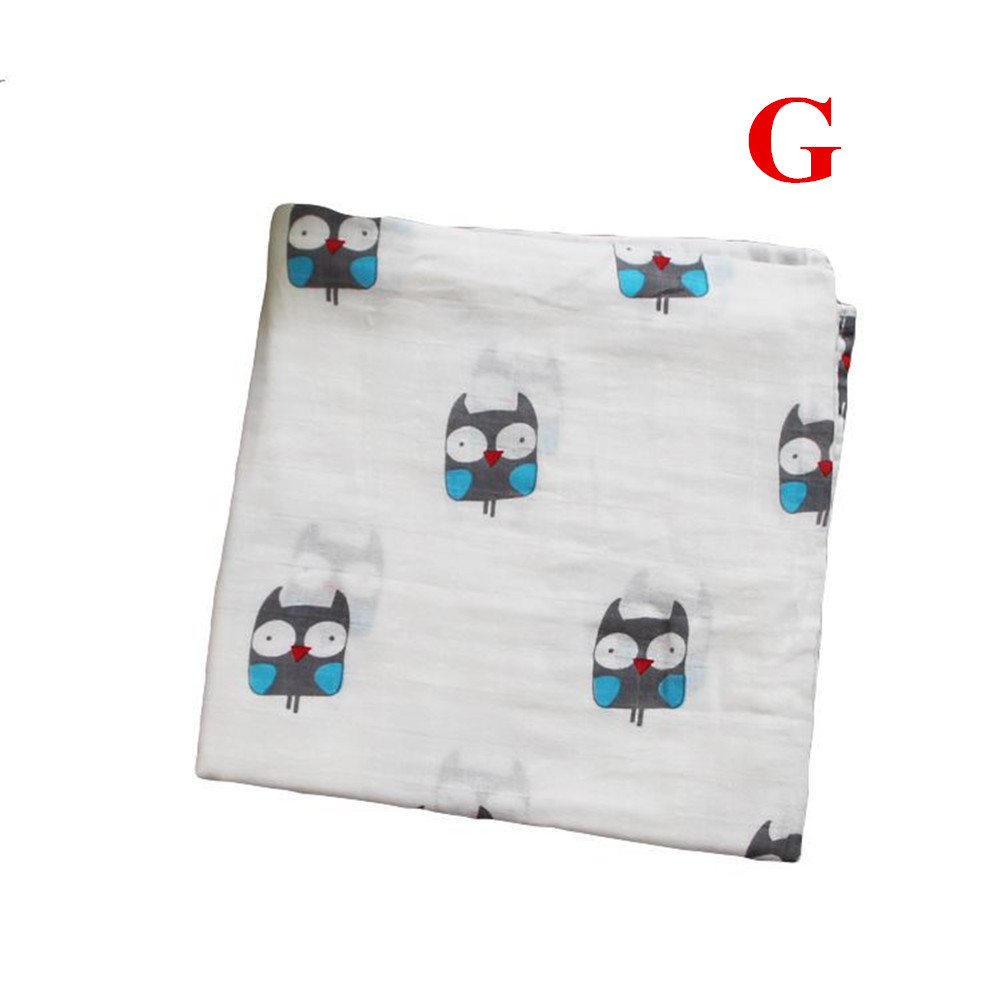 Baby Cotton 2-layer Bath Towel Newborn Towel Stroller Seat Blanket G_120*120