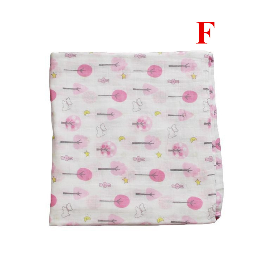 Baby Cotton 2-layer Bath Towel Newborn Towel Stroller Seat Blanket F_120*120