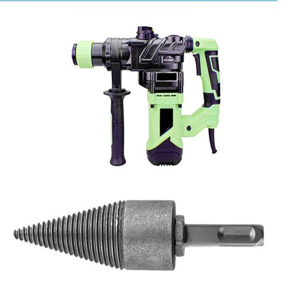 Farm Firewood Drill  Bit Wood Splitter Screw Cone Drive With Square Handle Electric Hammer Drill Bit Square shank electric hammer bit