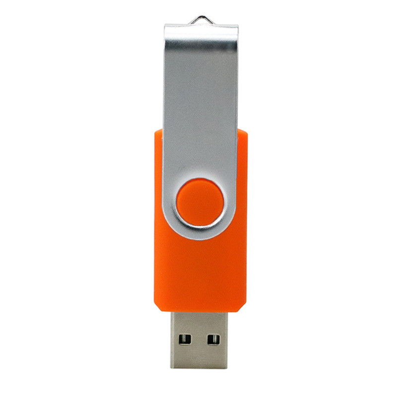 Swivel Usb 2 .0 1.0  Flash Drive Concise Portable U Disk L18 High Speed U Disk Orange_128G