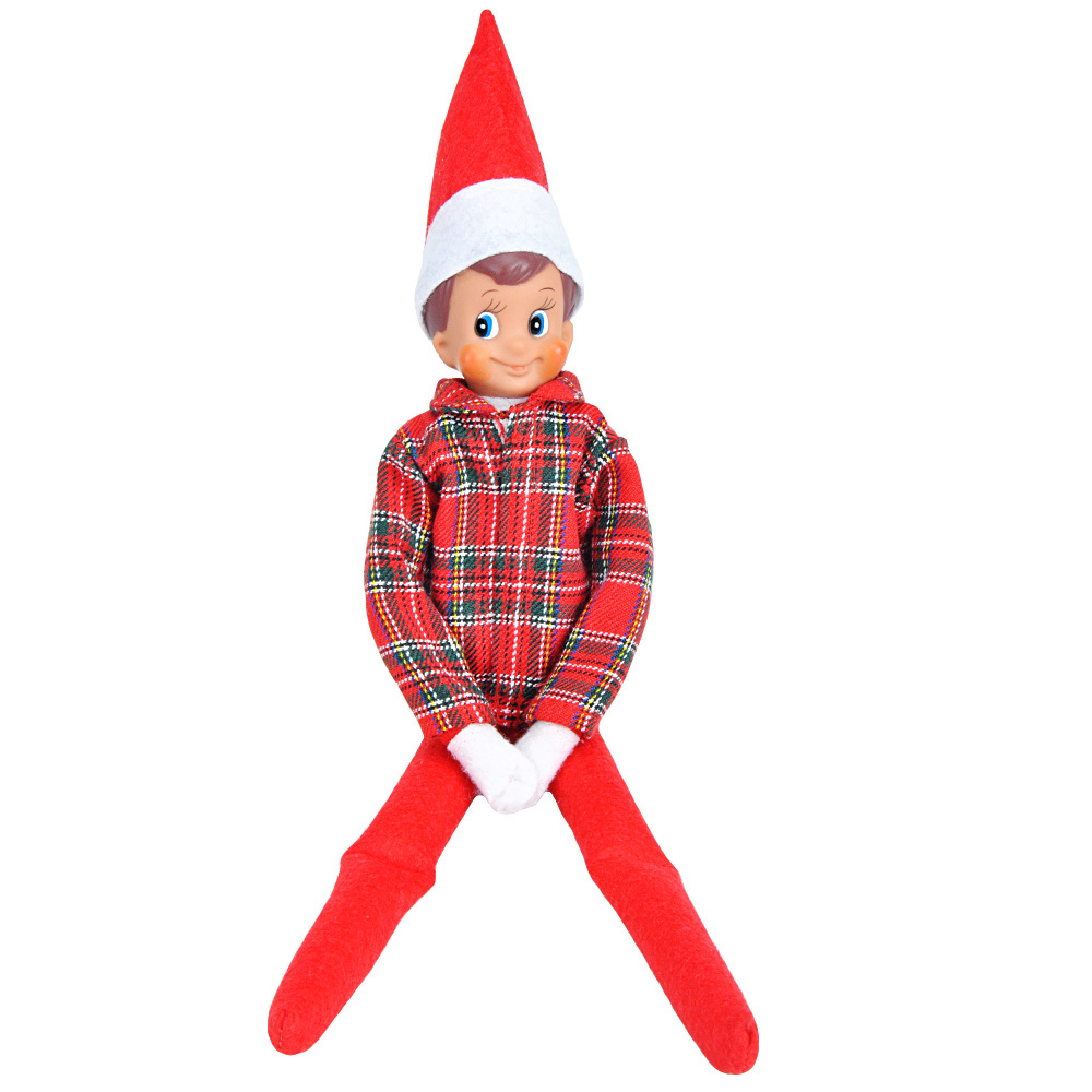 Cloth Elf Doll Costume Christmas Elf Clothes (without Doll) Clothes #3
