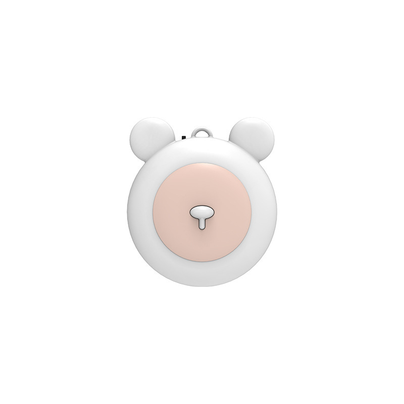 USB Wearable Air Purifier Necklace Portable Mini Air Lonizers for Adults Kids white