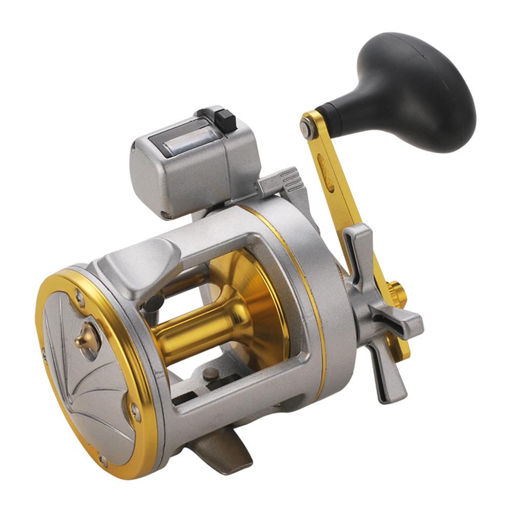Digital Display Fishing Reel Metal Drum Shape Sea Fishing Boat Fishing Wheel SILVER SHARK 2000