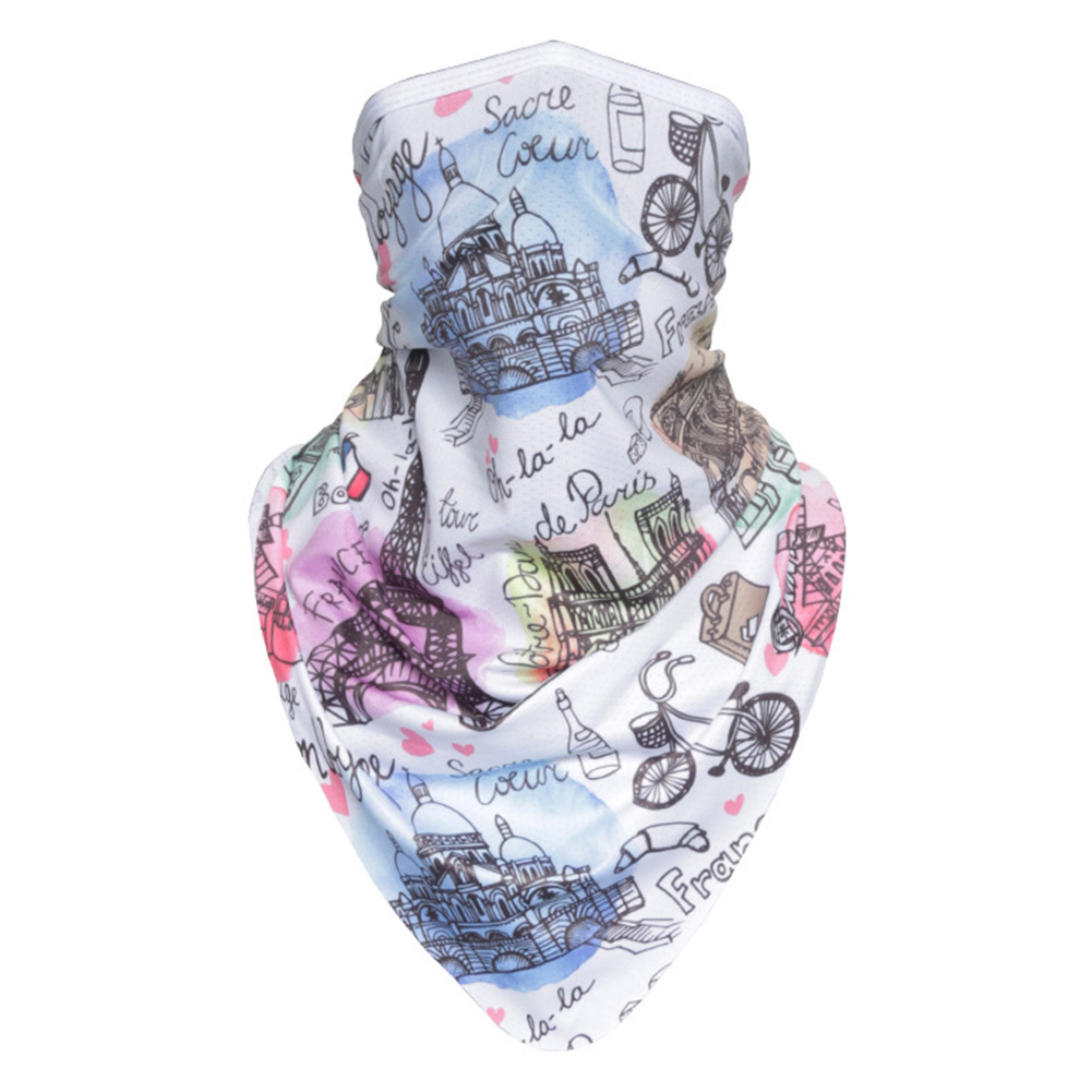 Facecloth Sport Triangle Scarf Cycling Hiking Camping Running Bike Bicycle Half Face Mask B_Free size