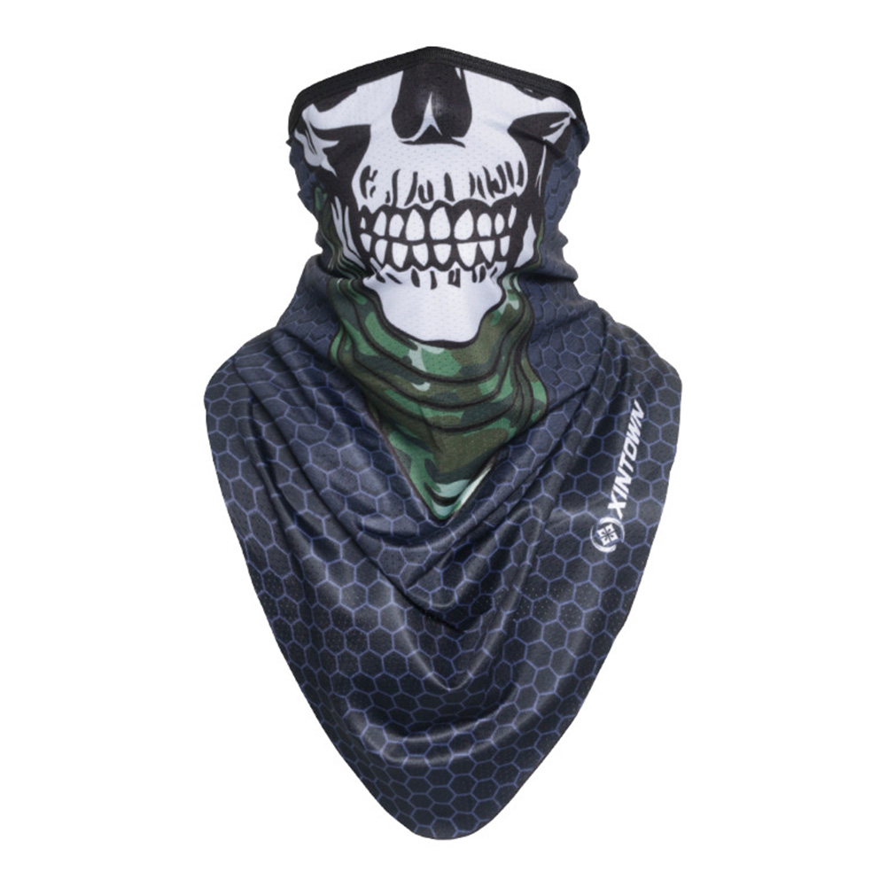 Facecloth Sport Triangle Scarf Cycling Hiking Camping Running Bike Bicycle Half Face Mask C_Free size