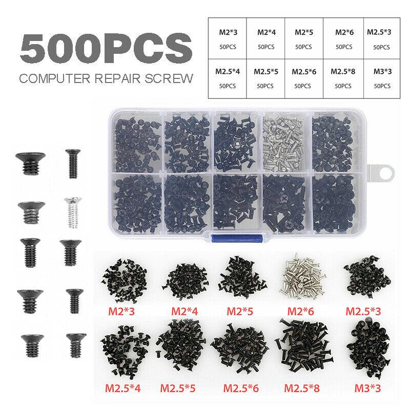 500Pcs Screw Kit Fit for Most Laptop Notebook Computer 100 pcs/ set