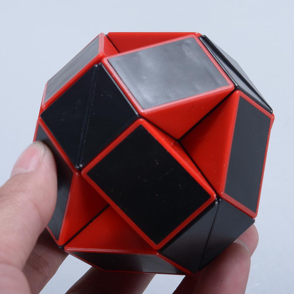 [Indonesia Direct] Millionaccessories 15 Inch Snake Magic Ruler Puzzle Cube Red/black