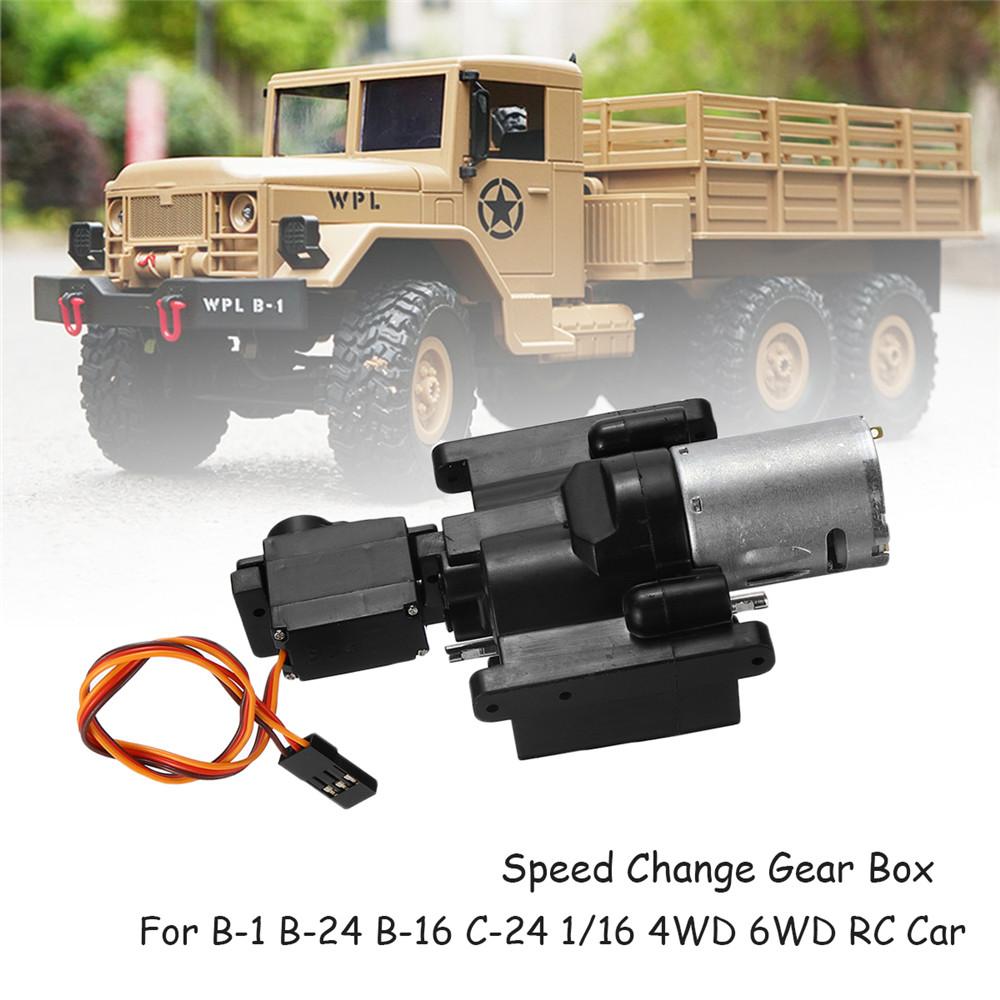 WPL Speed Change Gear Box for WPL B1 B24 B16 B36 C24 1/16 4WD 6WD Rc Car  as shown