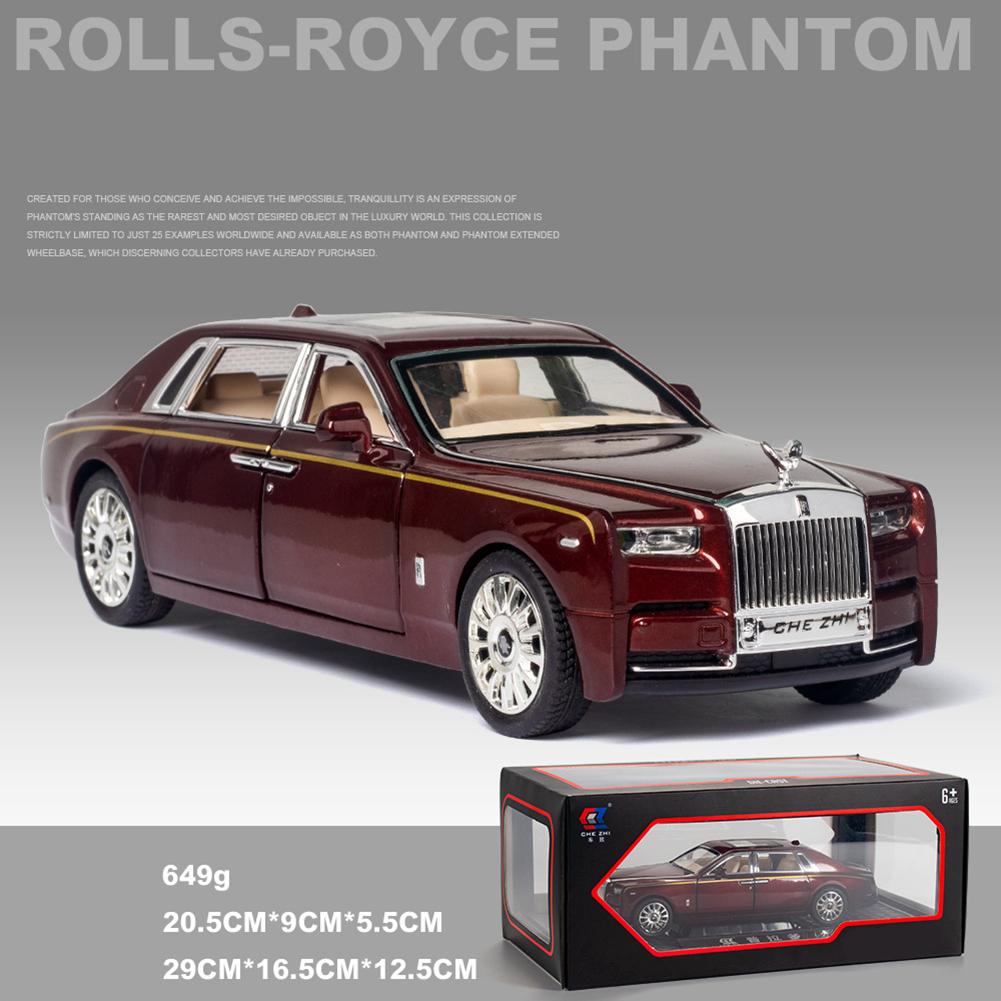 Car  Model  Decoration  Toy Simulation 1:24 Phantom Alloy Luxury Car Model Ornament Red