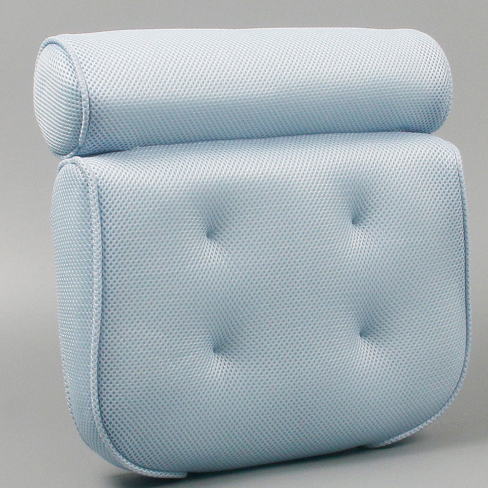 3D Quick-Drying 4 Suction Cup SPA Bathtub Pillow Bath Neck Pillow blue