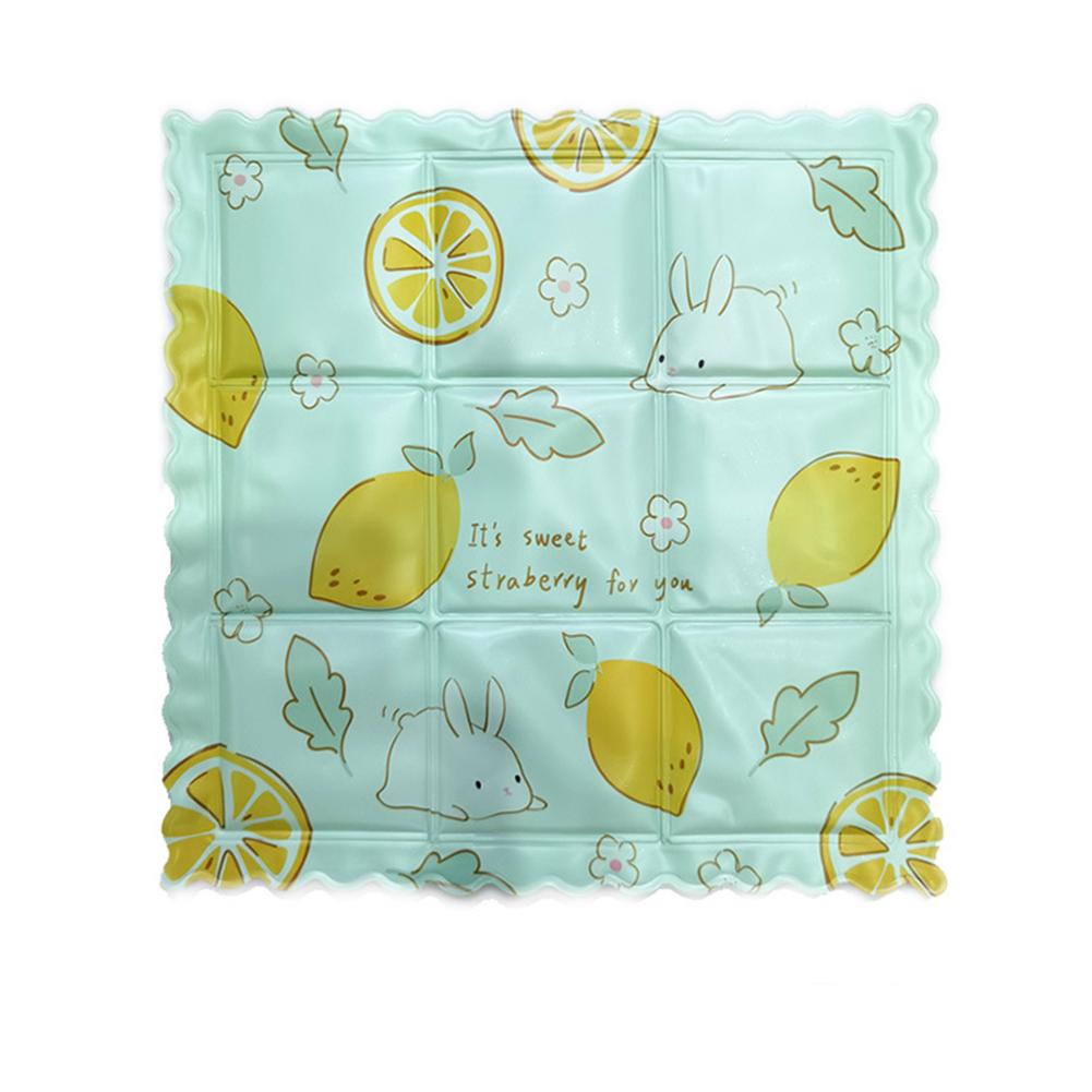 Cooling Ice  Pad Seat Cushion Summer Cool Mat Cute Cartoon Print Cover Lemon