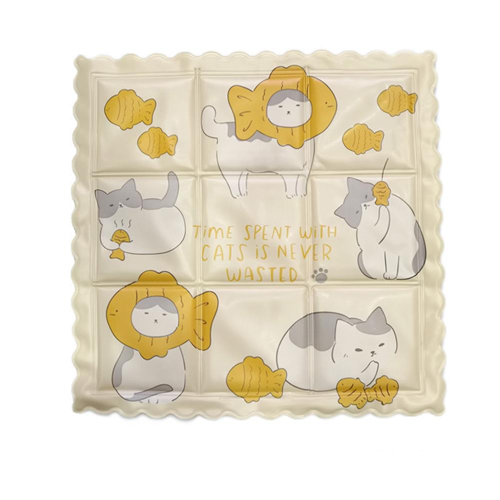 Cooling Ice  Pad Seat Cushion Summer Cool Mat Cute Cartoon Print Cover Cat models