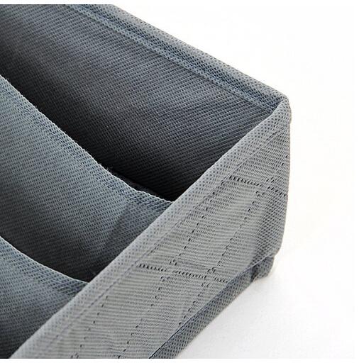 [EU Direct] Brownylife Shop - 3 Pieces a Set,foldable Box /Bamboo Charcoal Fibre Storage Box for Bra,underwear,necktie,socks
