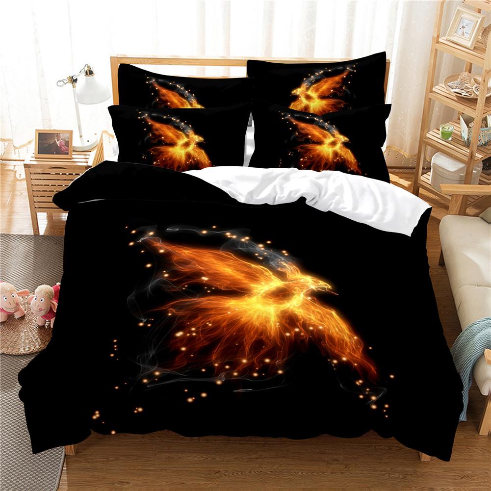 2Pcs/3Pcs Quilt Cover +Pillowcase 3D Digital Printing Dream Series Bedding Set Twin