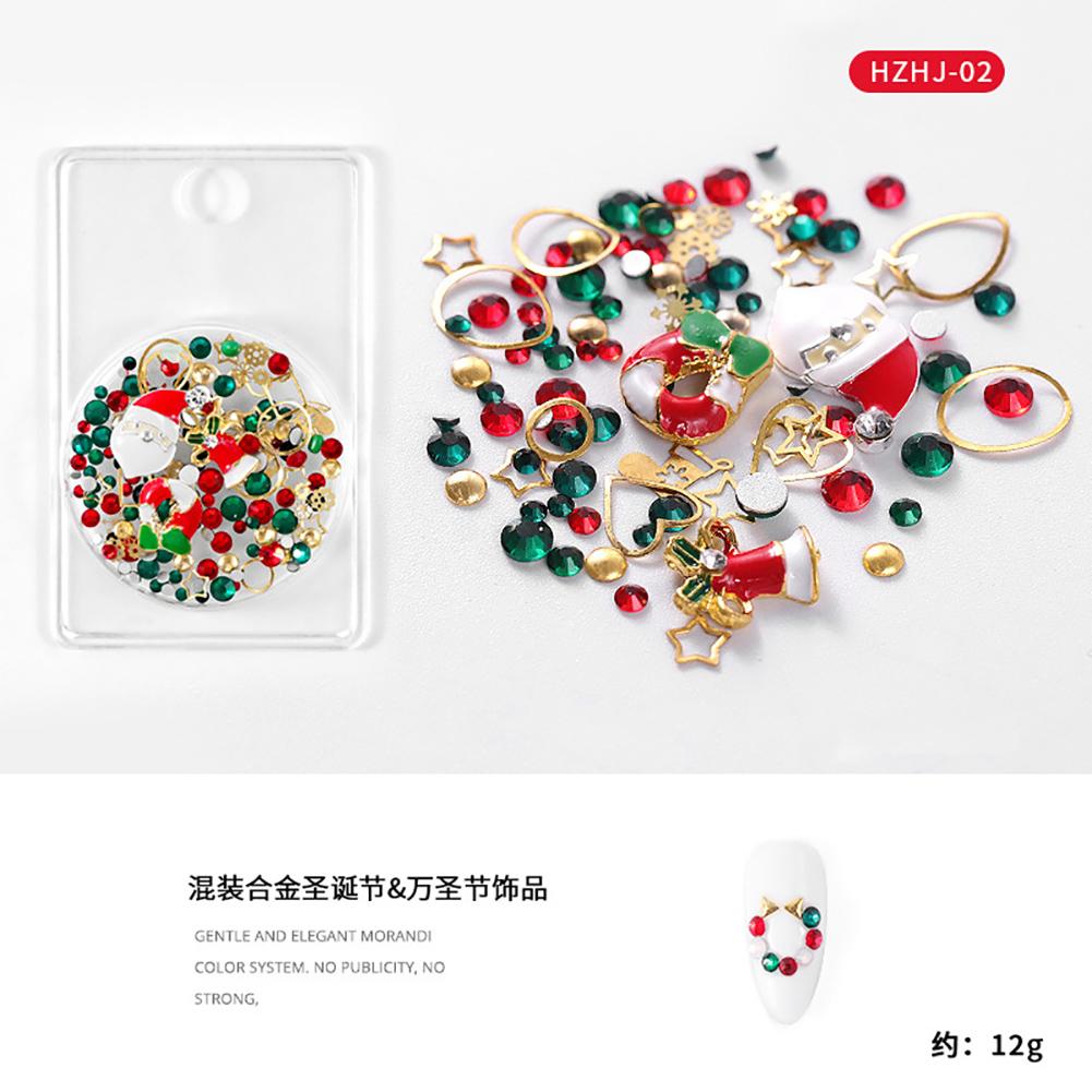 Nail Art Christmas Styles Alloy Metal Decorations Manicure Ornament HZHJ-02