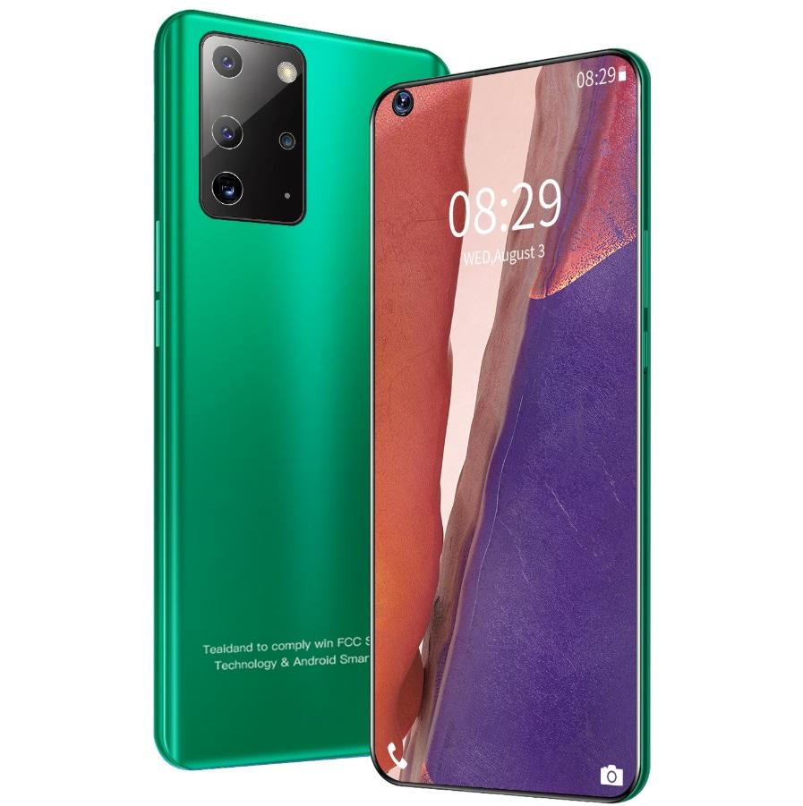 Note23 Pro+ 6.82 inch Hd large-screen smart phones RAM2GB+ 16GB ROM Android 5.1 Bluetooth 5.0 green_British plug