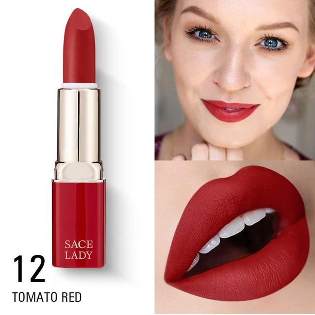 Waterproof Matte Lipstick Do Not Fade Moisturizing Nourishing Women Makeup Tools  12 colors