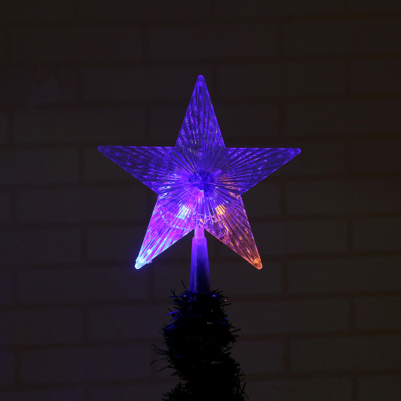 Christmas Tree Topper Star Lights, AA Battery Operated Pentagram Star Light Decoration Lamp S