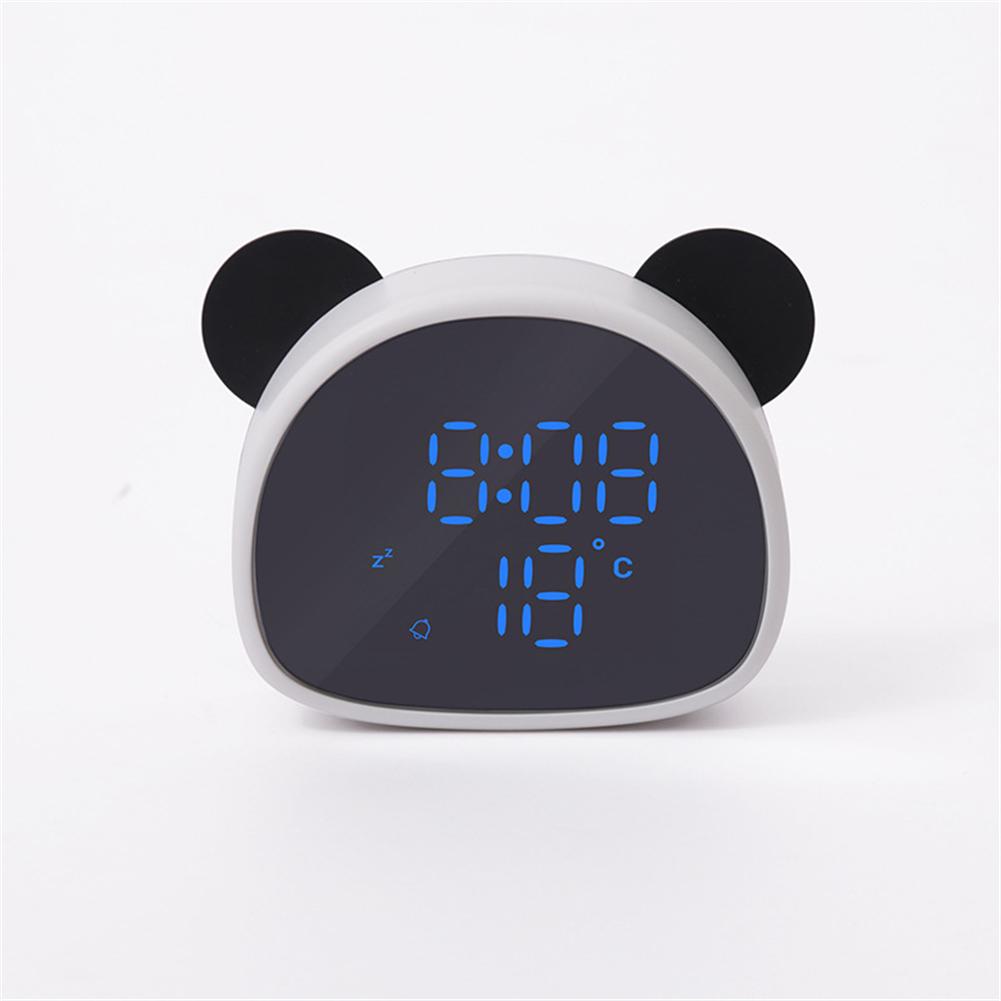 Cartoon Panda Shape Alarm  Clock Multi-function Voice Control Digital Alarm Clock