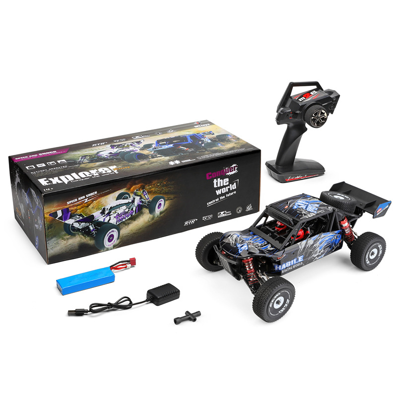Wltoys 124018 RC Car 2.4g 4wd  60kmh    High  Speed Car Off-road Crawler RTR  Electric  Climbing Car Toy For Kids 124018