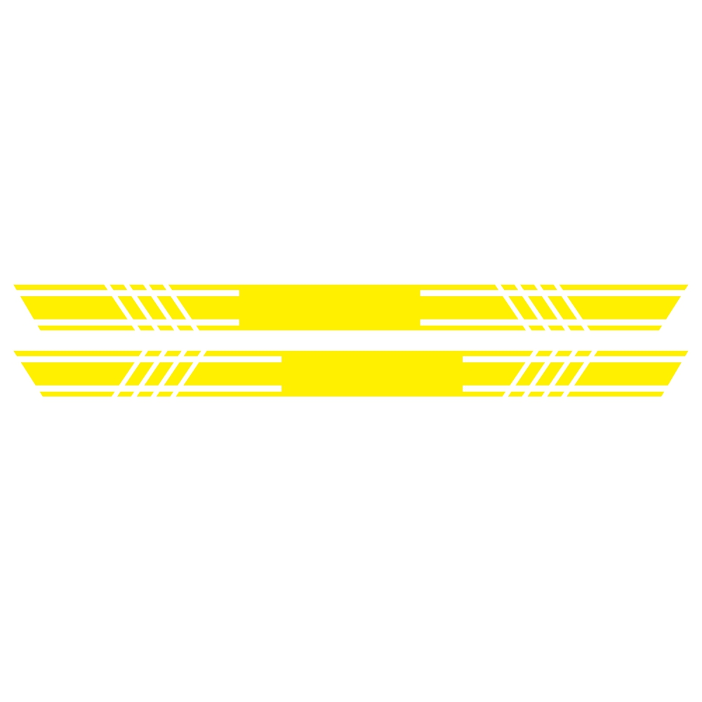 2pcs Car Rally Stripe Lower Door Panel for G Class G550 G63 Vinyl Sticker yellow