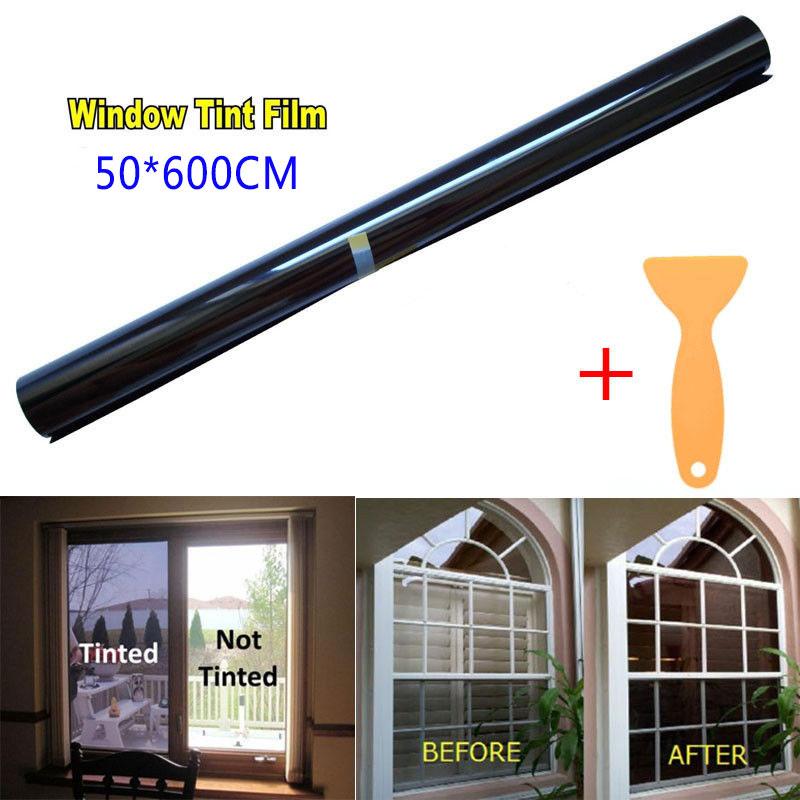 Uncut Roll Window Tint Film 50% VLT Car Home Office Glass Film 50*600cm