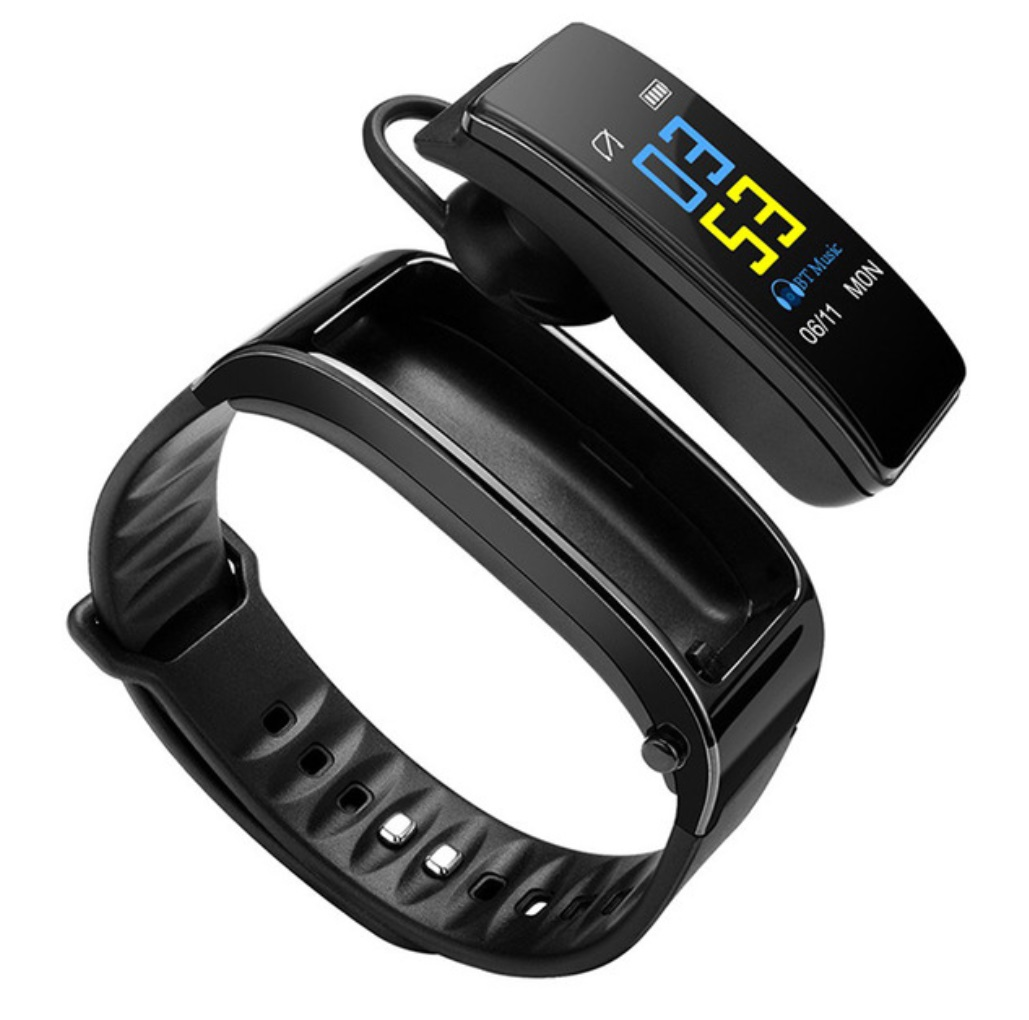 Y3 Plus Wireless Bluetooth Smart Watch Health Tracker Pedometer Fitness Bracelet Smart Wristband Black