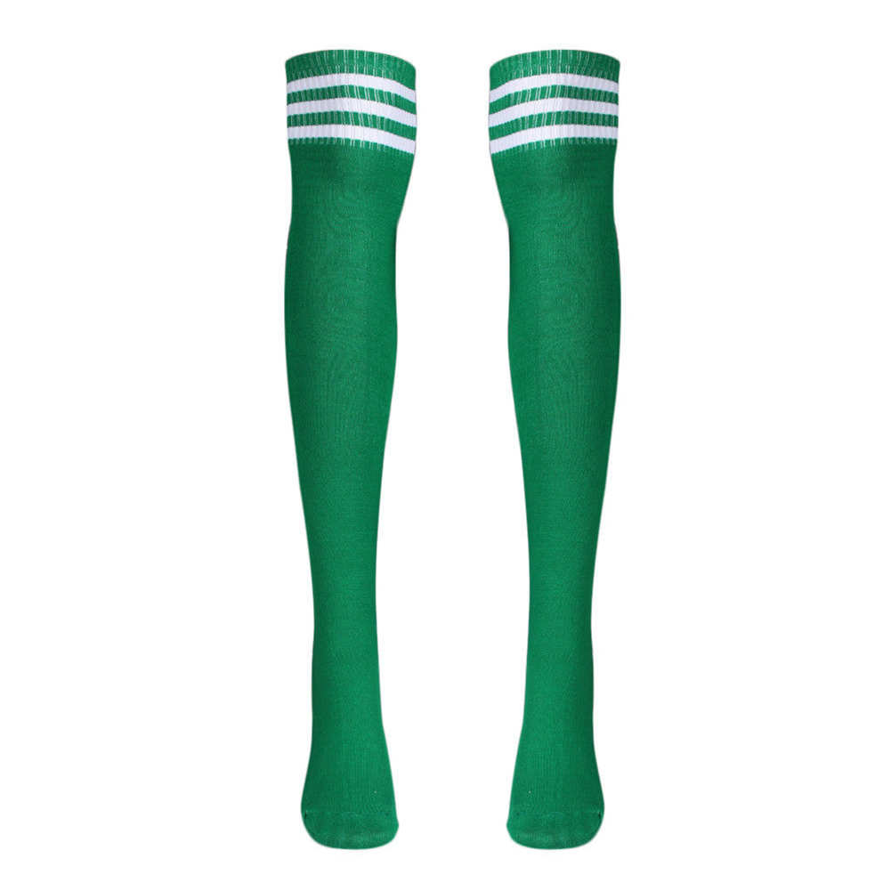 Fashion Men's Knee High Triple Stripe Athletic Soccer Tube Sock Breathable Comfortable Durable One Size