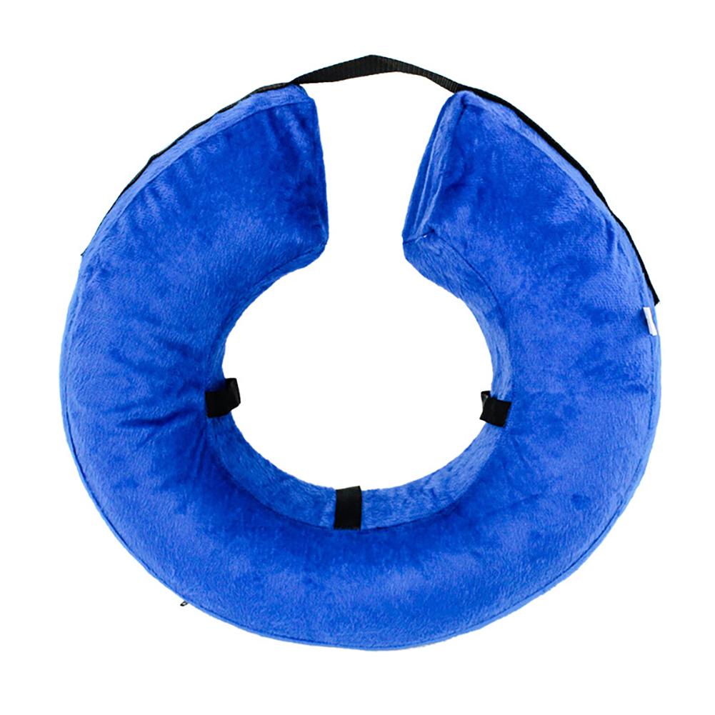 Portable Comfy Dog Cat Cloth Collar PVC Inflatable Pet Collar Anti-bite Anti-claw M: 27X27CM