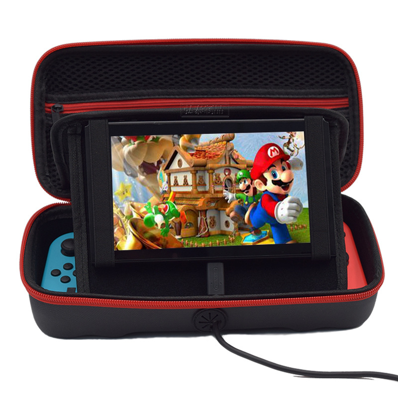 Game Console Storage Case Carrying Storage Bag Portable Travel Bag for Nintendo Switch Console Shock Proof EVA Hard Bag black