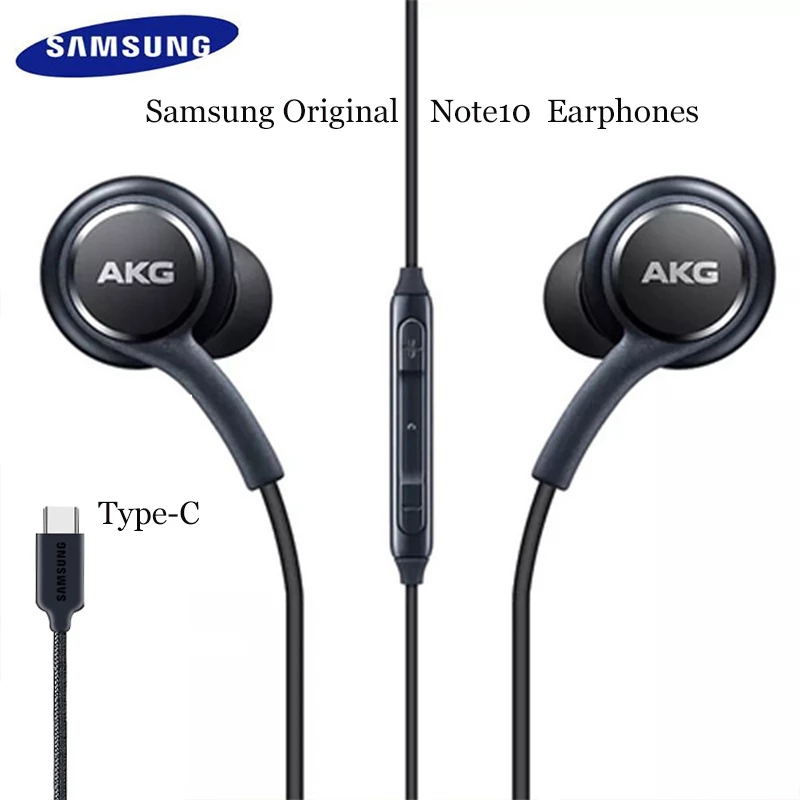 USB Type-C Earphone Digital Hifi Earbuds With Mic/remote Control Earphones black