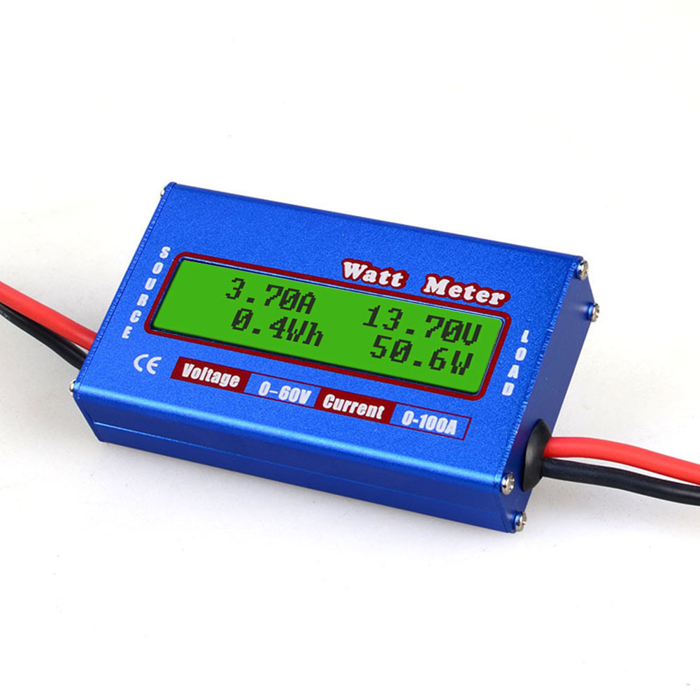 RC 60V 100A Balance Voltage Battery Power Analyzer RC Watt Meter Checker Professional Watt Meter Balancer Charger RC Tools as shown