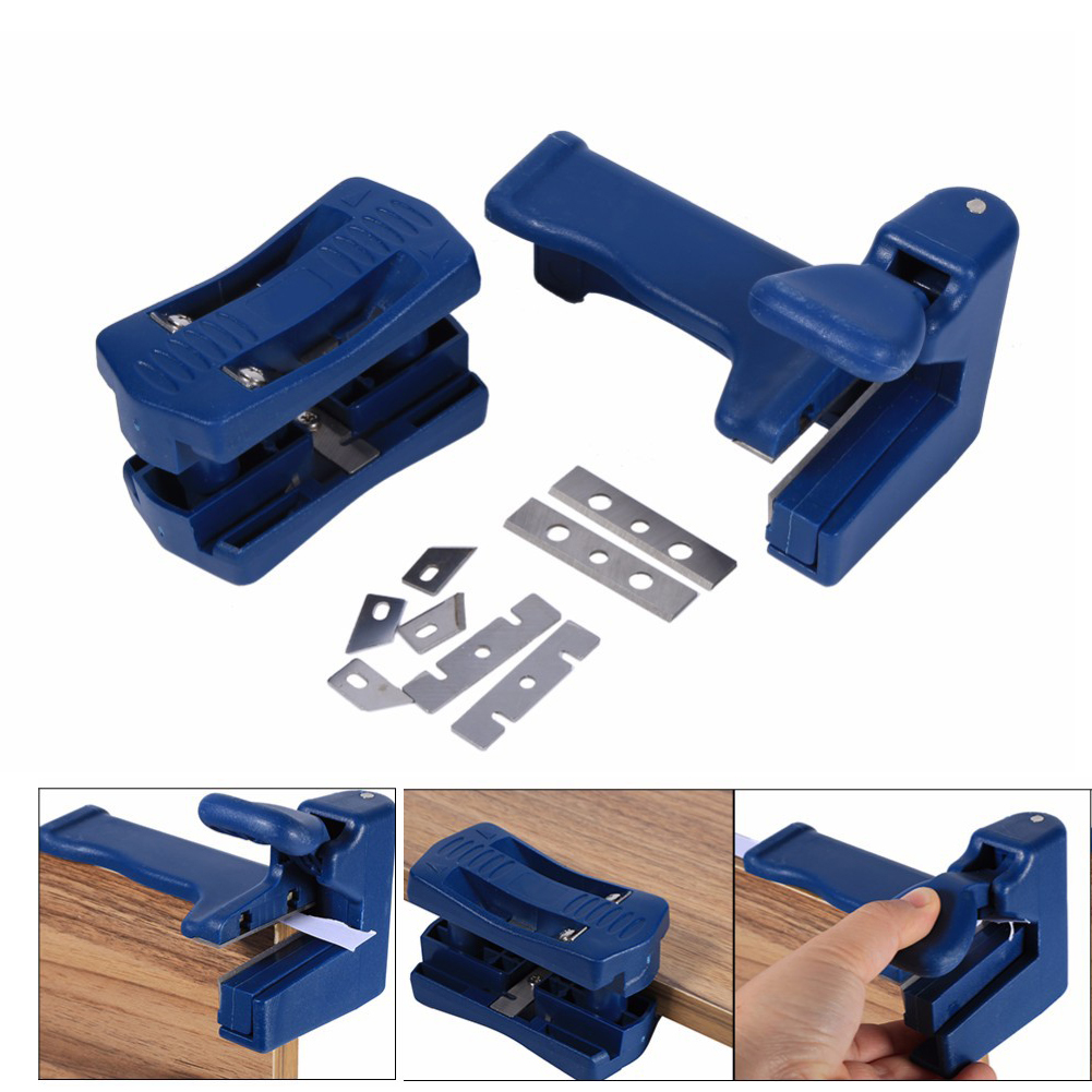 Double Edge Trimmer Set Wood Head Tail Trimming Carpenter Banding Machine Tools Hardware Woodworking Tools Tail Trimmer 2-piece trimmer