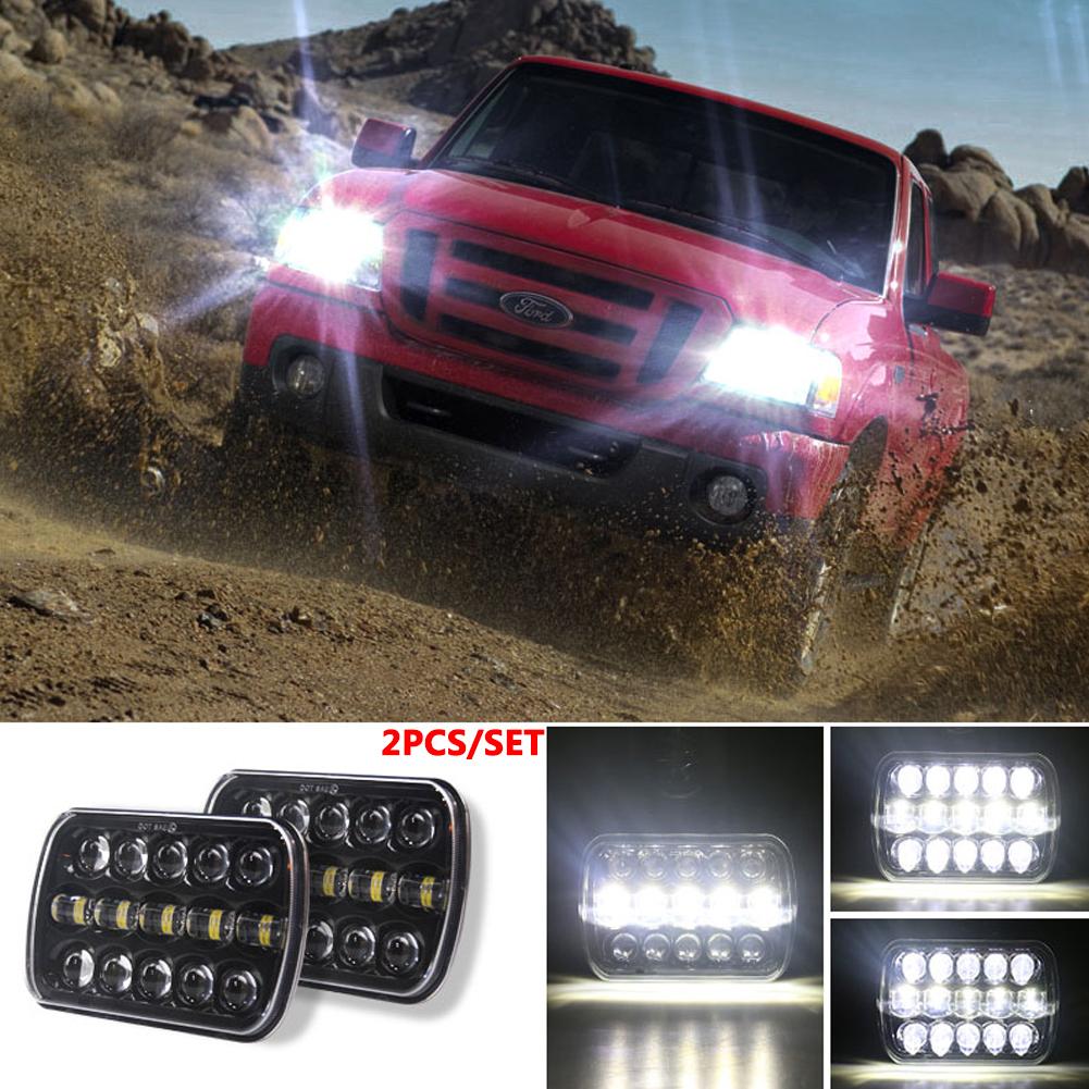 400 W 30000LM 7 inch LED Headlights 5X7/7X6 Led Beam Headlamp Led Headlight Angel Eyes for Jeep Wrangler