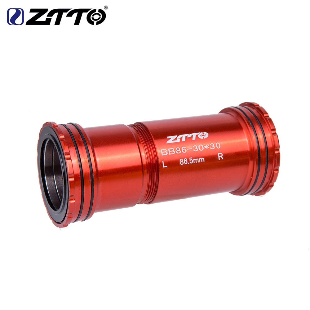 ZTTO BB86EVO Bicycle BB Middle Shaft BB30 Pair Lock Middle Shaft Threaded Screw-in Lock-up Middle Shaft 4 Bearing Middle Shaft BB86*30 red 4 bearing
