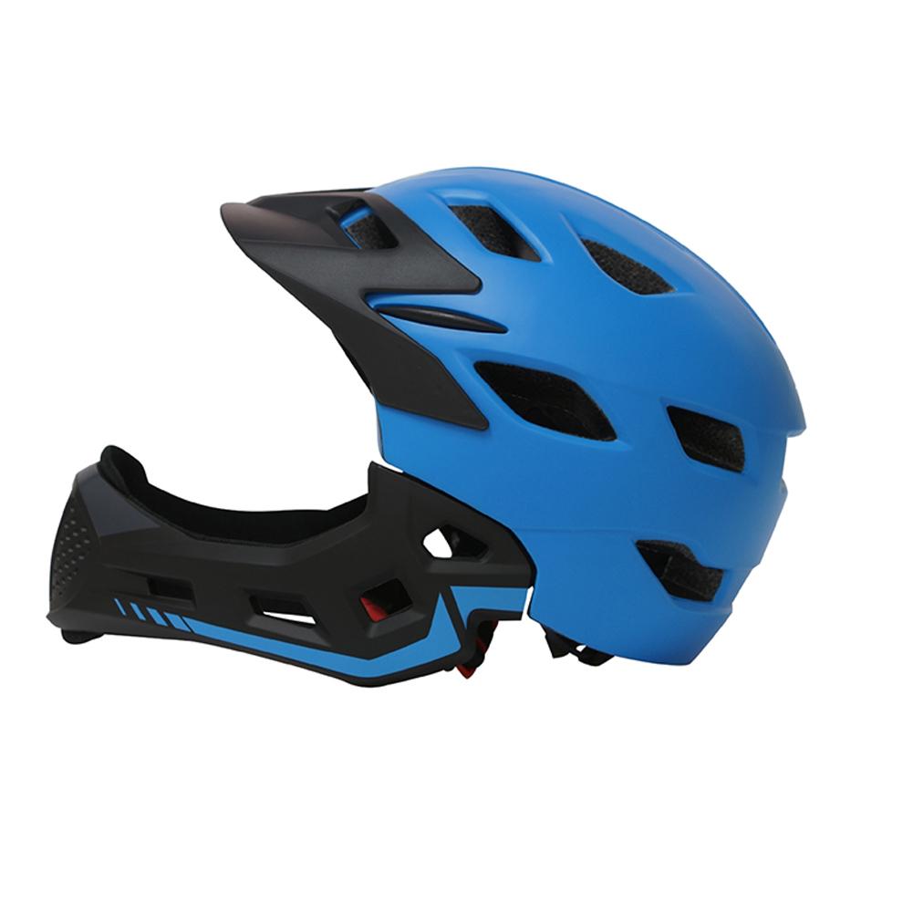 Full Covered Kid Helmet Balance Bike Children Full Face Helmet  blue_One size